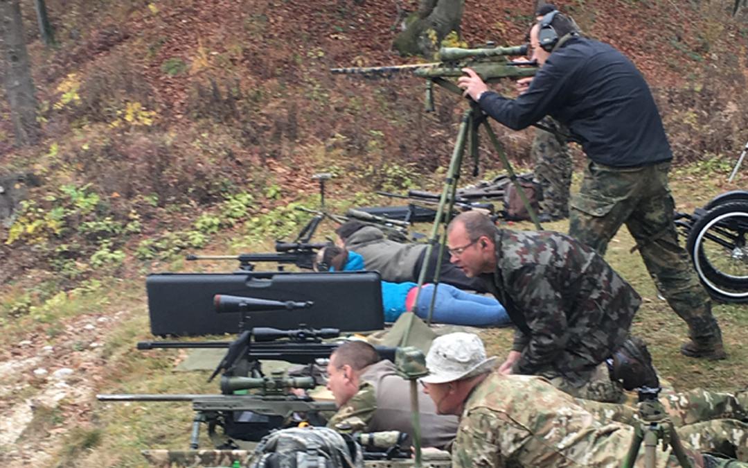 Trening strelanja z ostrostrelno puško Mačkovec 11.11.2017